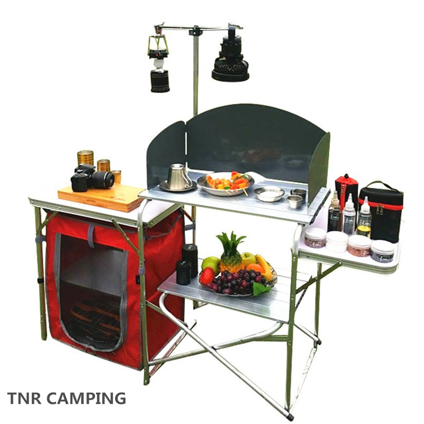 Usd 141 16 Tnr Outdoor Portable Mobile Kitchen Stove Top Cabinet