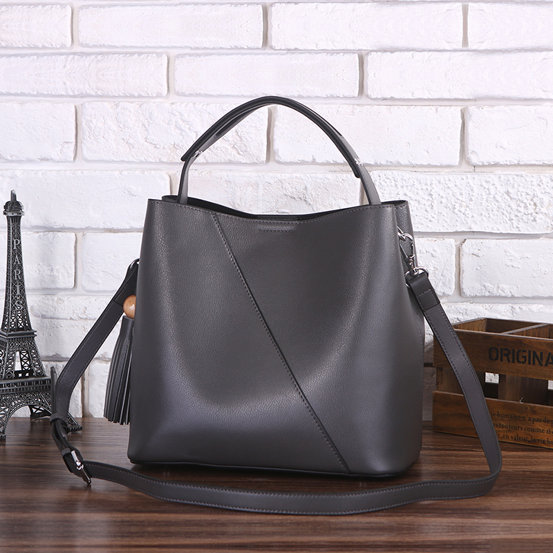 c99a2891cc13 cheap Purchase china agnet Soft leather bucket bag leather big bag ...