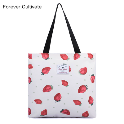 Forever CultiVate print shoulder bag female cute hand raised environmental protection bag Tott bag waterproof shopping bag