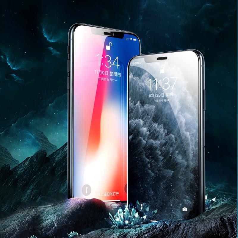绿联iPhone11钢化膜X适用于苹果XR手机12贴膜XsMax全屏覆盖防偷窥11Pro磨砂ProMax抗摔7全包边8Plus屏幕mini