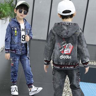 【巴拉雁】冬季男童牛仔兩件套裝童裝