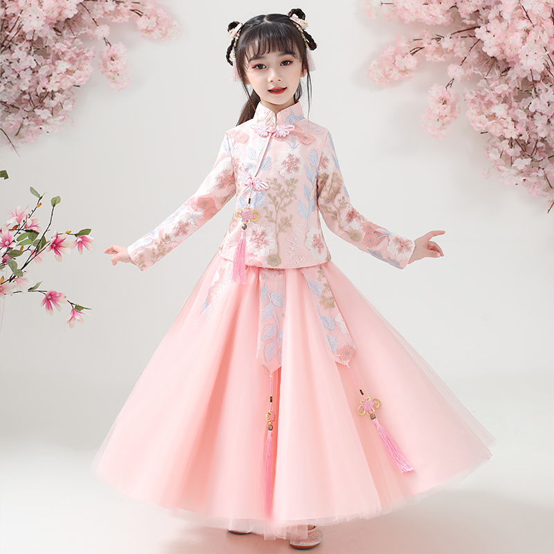 Girls' Han suit, 2020 spring dress new princess dress, children's Han dress