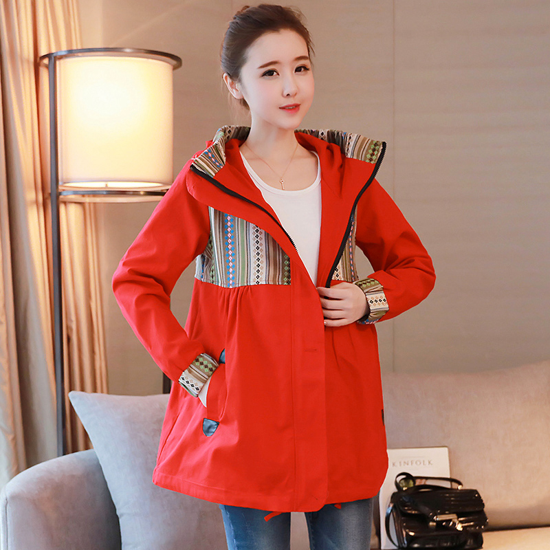 57df5662db1f7 Pregnant women windbreaker spring and autumn coat Spring Fashion Models  2018 New large size autumn and winter Korean loose coat pregnancy