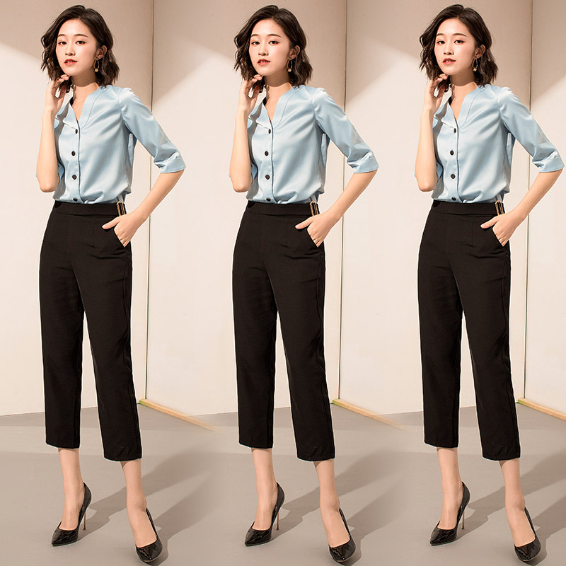 6f367dcad55 Occupation suit female 2019 summer new fashion temperament slim interview  business suits dress skirt ol overalls