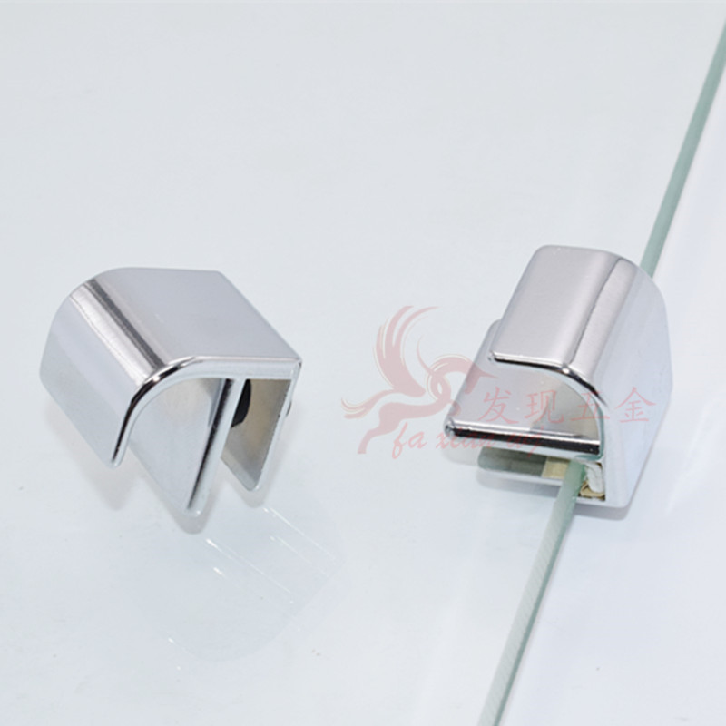 Glass Cabinet Door Small Handle Glass Free Opening Handle Glass Clip