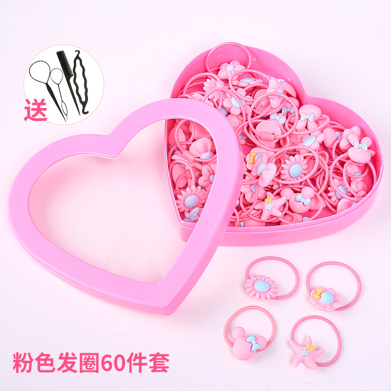 3# pink hair ring 60 sets