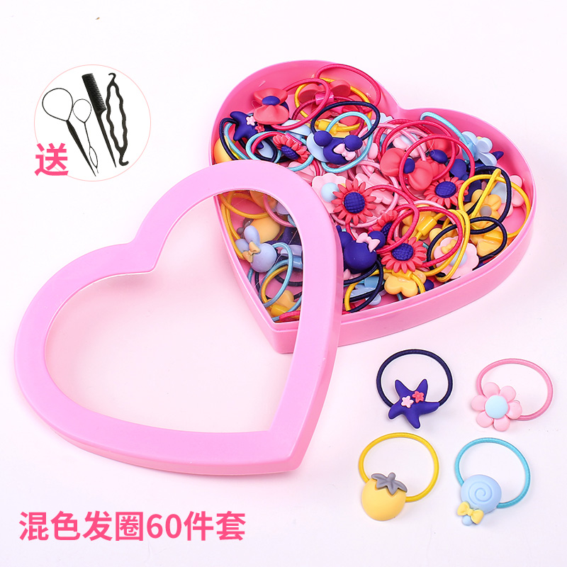 9# Mixed Color Hair Ring 60 Sets