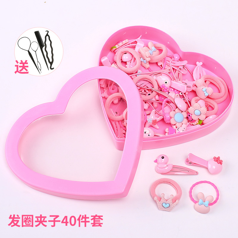 6# Powder Hair Ring Clip 40 Piece Set