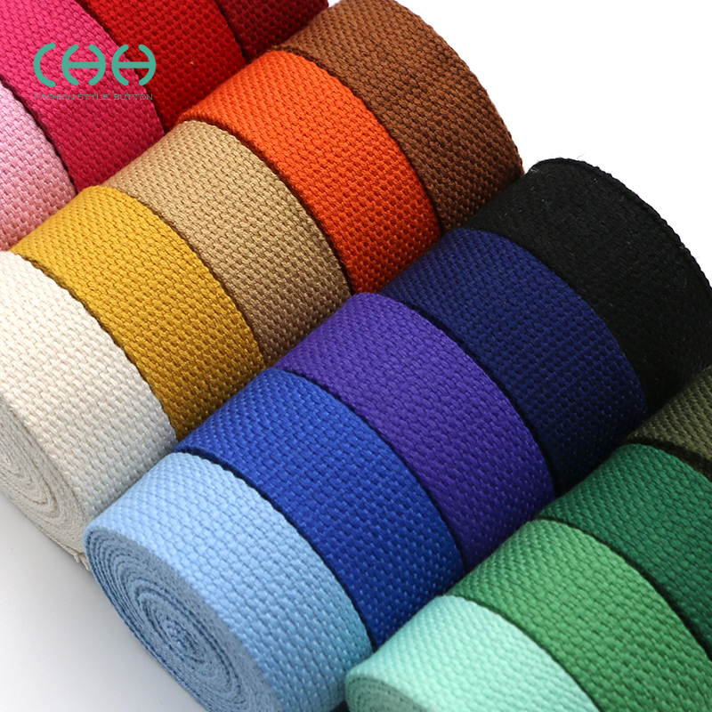 Colored thickened backpack belt bag with canvas belt woven with woven striped cloth bundled with luggage with accessories