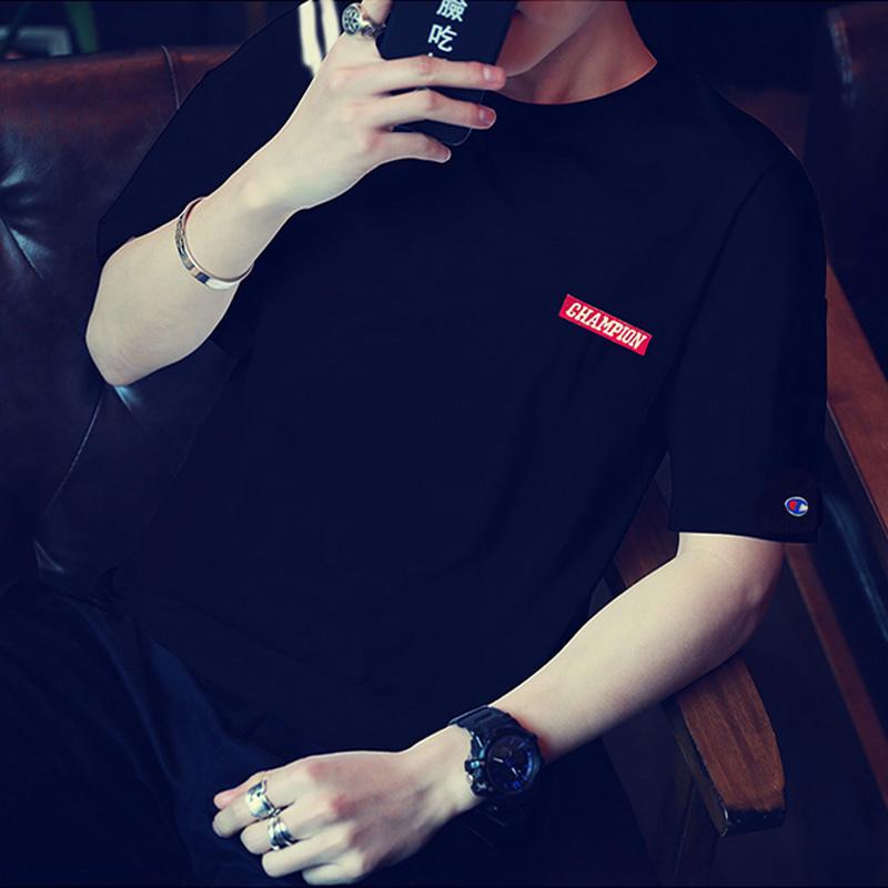 Mùa hè của Nam Giới Kích Thước Lớn Vòng Cổ Ngắn Tay Áo T-Shirt Casual Bóng Chày Phù Hợp Với Hàn Quốc Mỏng Mỏng In T-Shirt