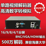 Network video decoder monitoring decoder digital transition analog single high-definition decoder matrix on the wall