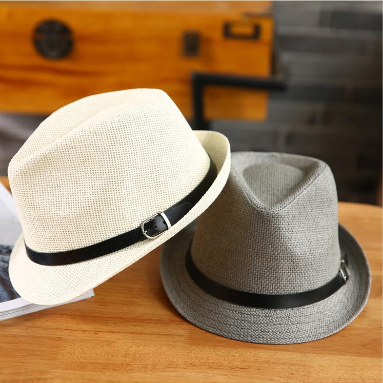 ae2ea9e39fef8 Yixue Fang bowler hat Korean shade men and women British Summer couple hat  straw hat beach tide straw hat jazz hat