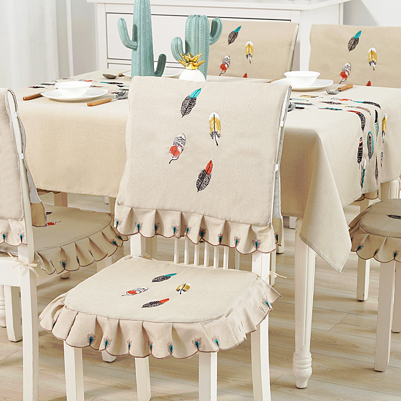 Cool Nordic Color Embroidered Tablecloth Cotton Linen Tablecloth Simple Fresh Table Cloth Chair Cushion Chair Cover Fabric Table Coffee Table Cloth Set Pabps2019 Chair Design Images Pabps2019Com