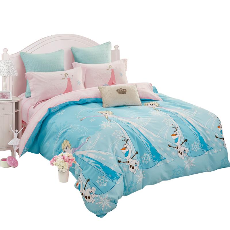 Disney/迪士尼梦幻童话系列 全棉床上用品儿童四件套床单被套纯棉