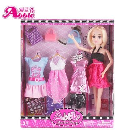 爱芘芭比娃娃女孩公主玩具套装大礼盒别墅城堡儿童女会说话的娃娃