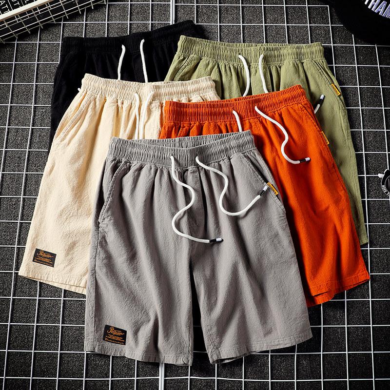 夏季短裤男休闲裤裤衩夏天青少年5五分潮牌裤子宽松工装大潮流薄