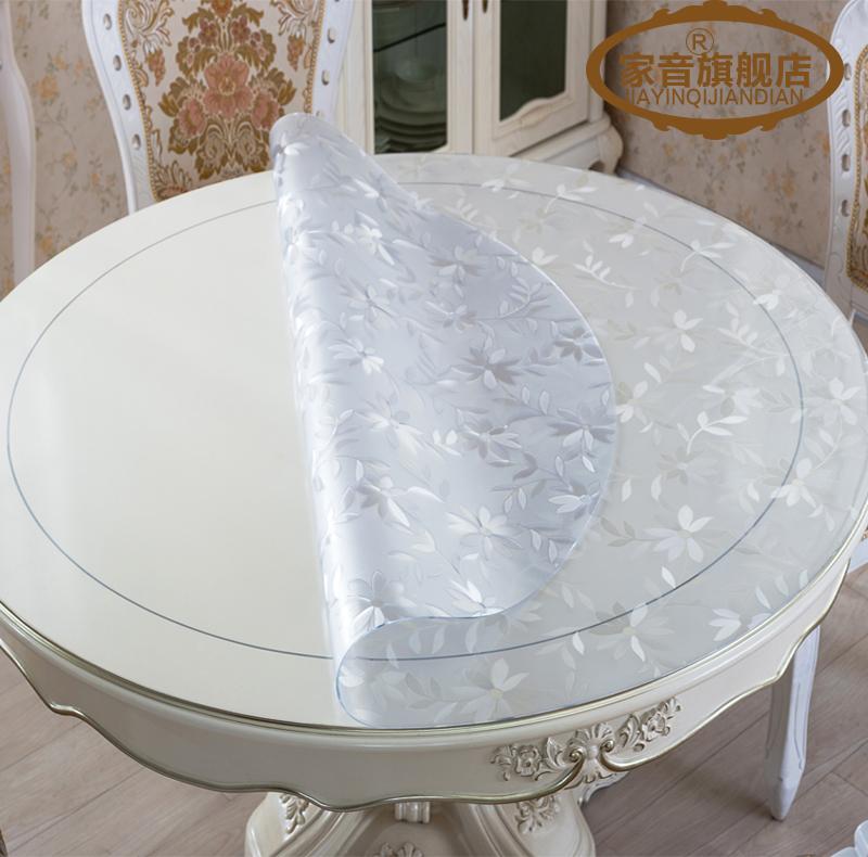 Сгущаться PVC круглый мягкий стекло стол подушка не прозрачный вода обеденный стол ткань скатерть кристалл доска кофейный столик стол подушка сделанный на заказ