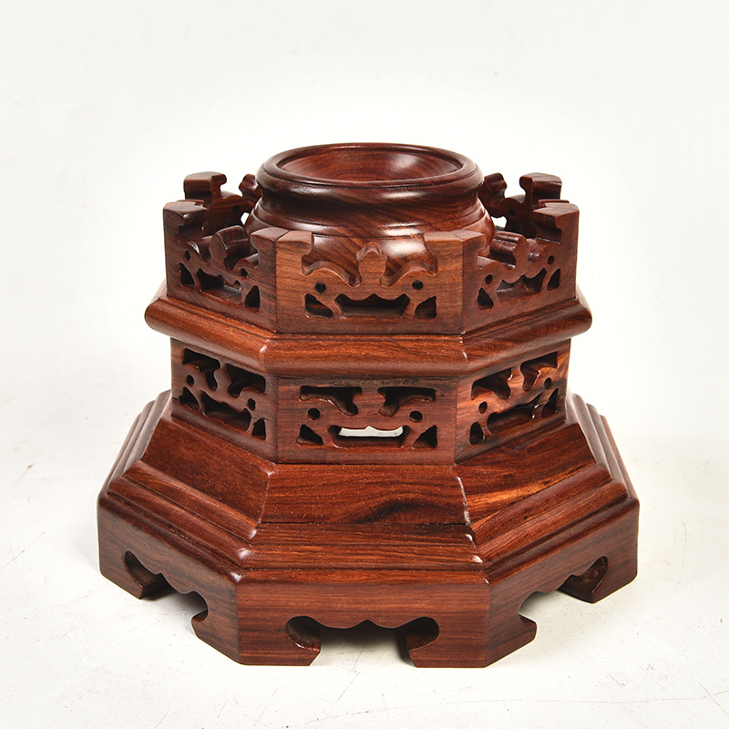 Pianology picking red crystal ball can rotate woodcarving figure of Buddha base base gourd water solid wood handicraft furnishing articles