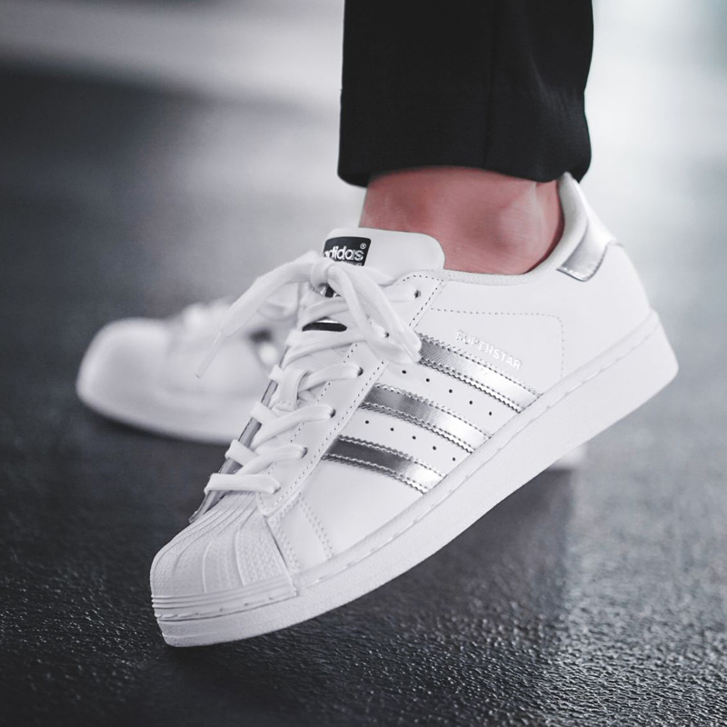 45690e22b5bd Adidas Superstar clover shell head gold standard men and women shoes casual  white shoes men s shoes
