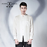 Xiang Yunsha long-sleeved white Chinese style autumn new style cotton and linen shirt men's shirt Chinese shirt men
