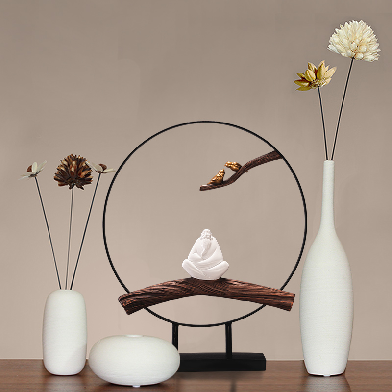 Hiện đại nhỏ gọn mới Zen Trung Quốc văn phòng sáng tạo phòng khách hiên bàn cà phê tủ TV trang trí nội thất đồ trang trí