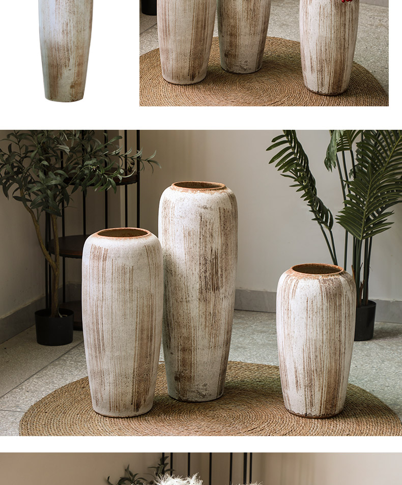 The sitting room of a home stay facility ceramic deadwood big vase wabi-sabi poverty wind restoring ancient ways pottery hydroponic ceramic floor floral furnishing articles