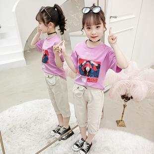 【土豆熊】夏季韩版裤子+短袖两件套套装