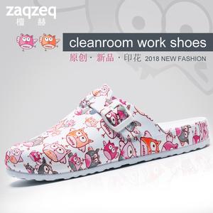 Dép đi trong nhà dép y tá phòng mổ phẫu thuật giày giày dành cho nam giới và phụ nữ được in dép và dép chống trượt giày dép thí nghiệm