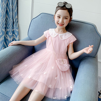 Girls dress summer dress 2021 new popular summer children's dress little girl princess skirt fluffy children's skirt