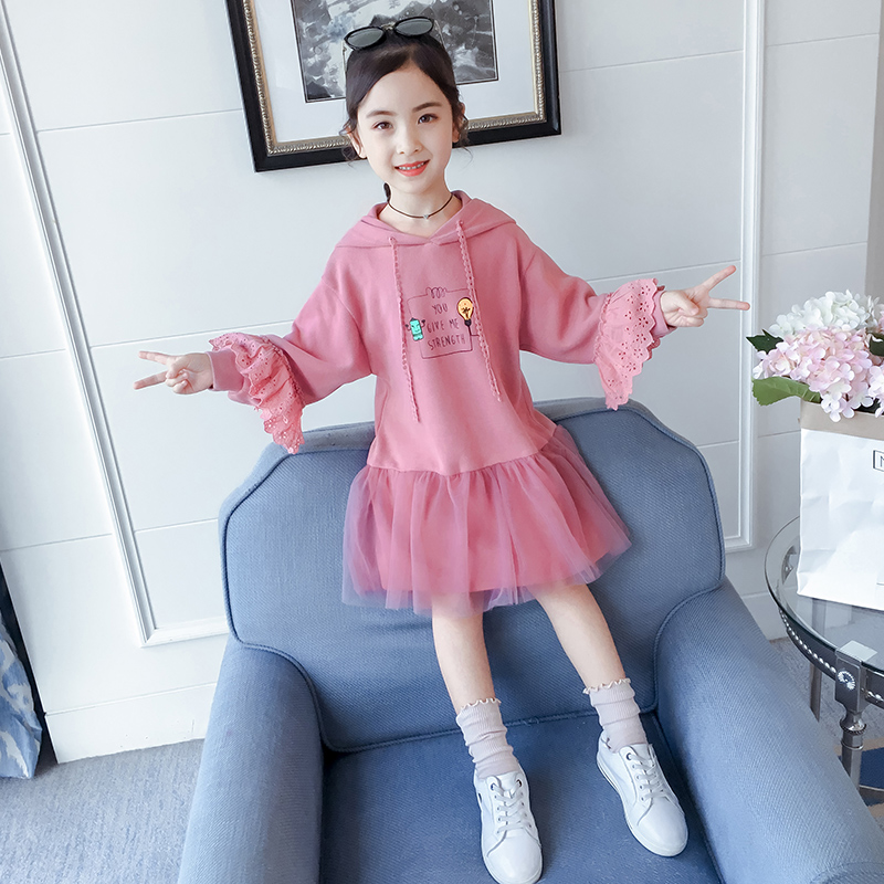 Girls dress 2020 spring dress new 4 children's skirt 5 yang gas 6 children's dress girl 7 guard skirt 8 spring and autumn 9 years old