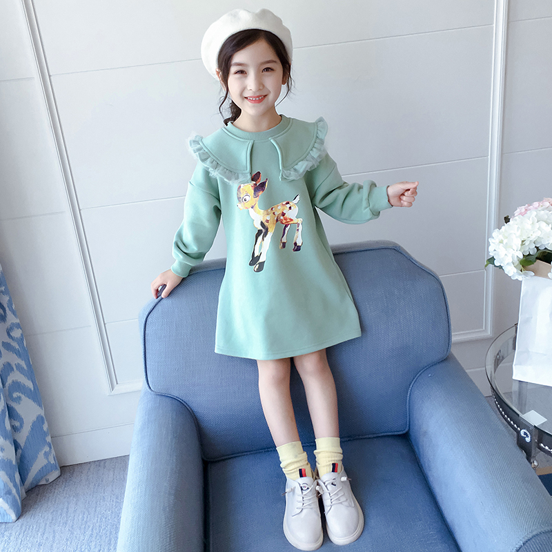 Girl's guard dress spring dress 2020 new Korean version of the net red little girl medium long princess skirt children's dress