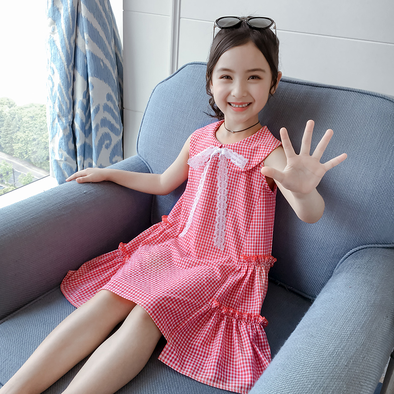 Girls dress summer 2019 new network red super air princess dress Little Girl Summer children's clothing children's skirt