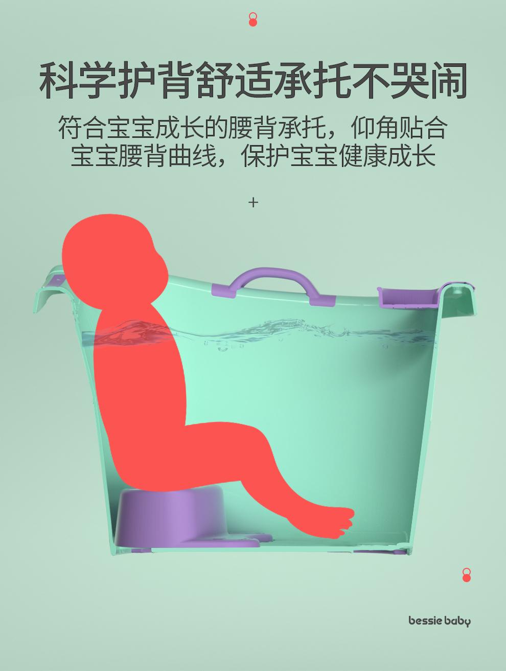 儿童泡澡桶宝宝婴儿游泳桶洗澡沐浴桶小孩子可坐家用加厚大号浴盆详细照片