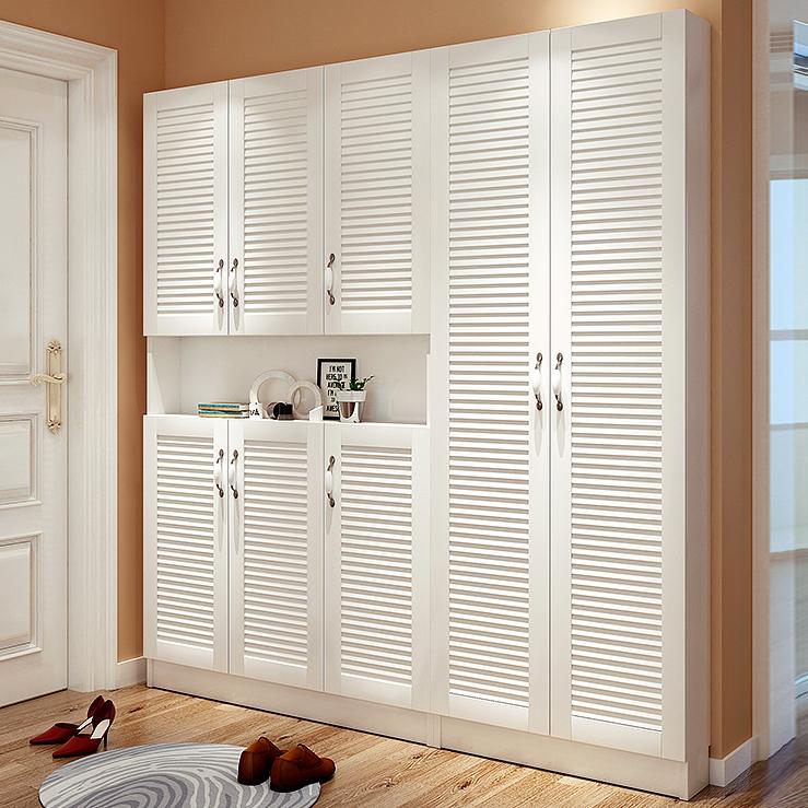 客廳 超薄鞋柜大容量省空間鞋架特價門廳柜簡約現代玄關17cm儲物