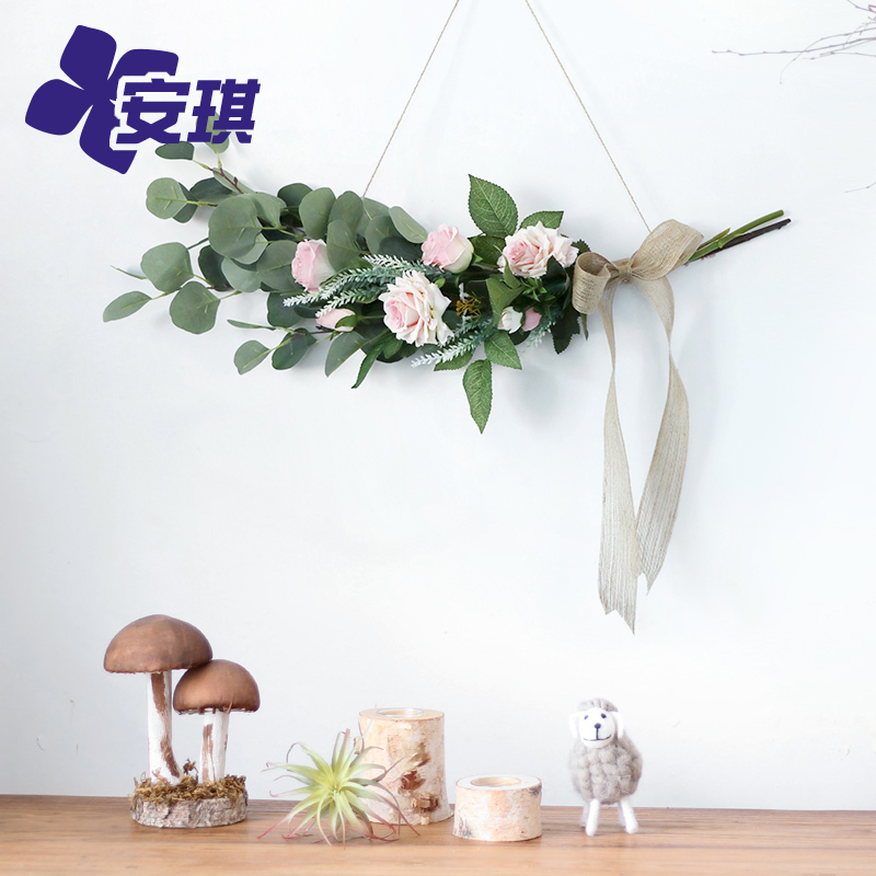 Nordic style simulation flower background wall decoration Room decoration Green plant aerial charm Door window decoration