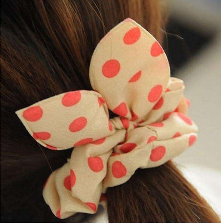 韩版兔耳朵发圈头绳橡皮筋韩国扎头发皮套头花发饰头饰发绳小饰品