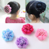 Princess lace children's head flower girl hair accessories ball hair net girl dance dish hair net pocket hair tool