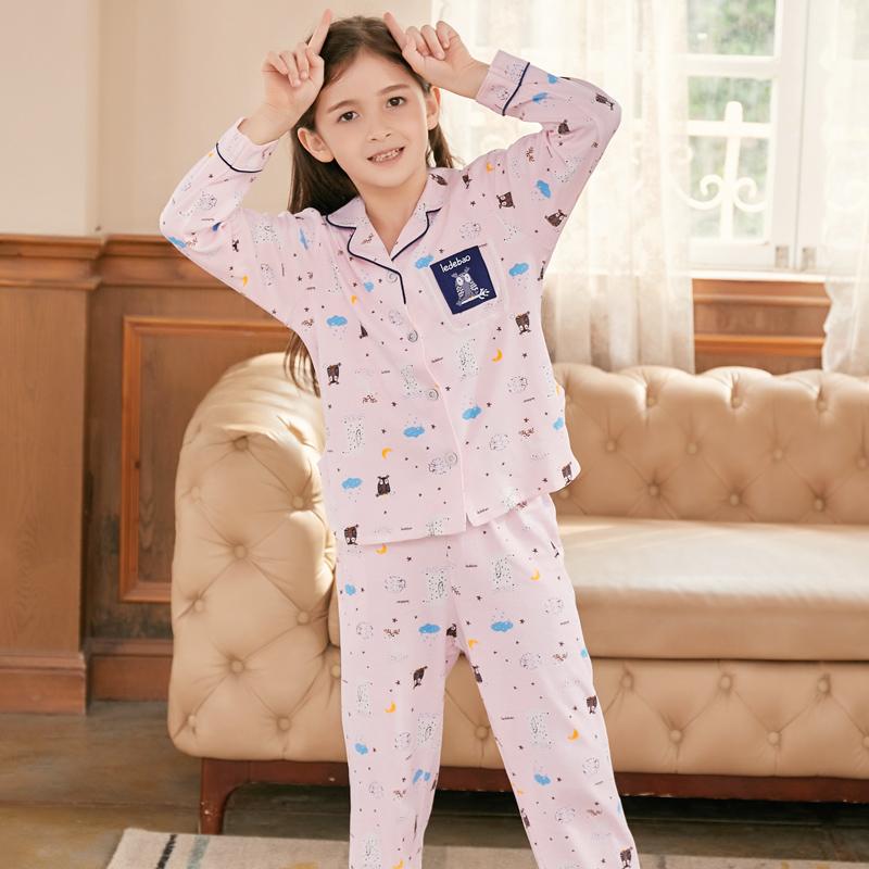 女童睡衣春秋季长袖宝宝纯棉甜美可爱儿童套装女孩公主家居服秋款