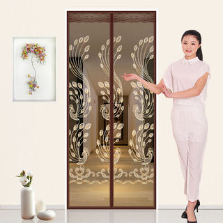 Velcro mosquito curtain magnetic screen door summer gauze curtain soft samana door encryption home bedroom partition curtain