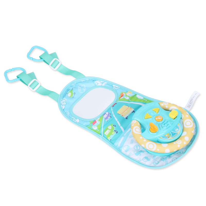 British Childrens Steering Wheel Toy Child Car Seat Baby Simulation Driving Puzzle