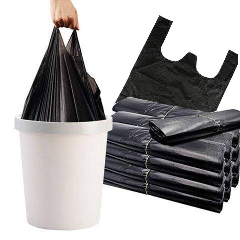 垃圾袋家用加厚黑色手提背心式拉圾袋一次性塑料袋厨房垃圾马甲袋