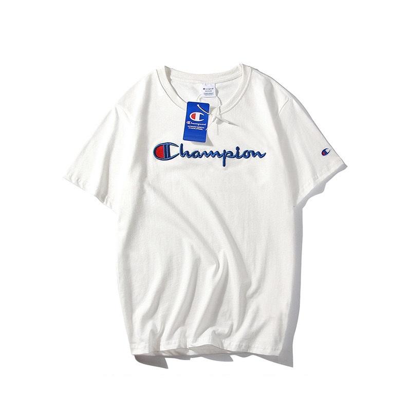 2020夏季纯棉新款C字母刺绣男女情侣t恤短袖打底百搭纯色闺蜜半袖