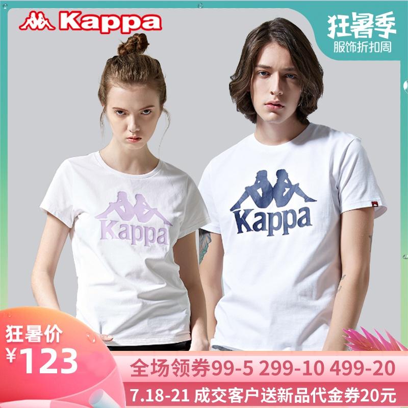 Kappa卡帕背靠背圆领休闲男女运动T恤夏短袖半袖T恤19新K09120912TD03