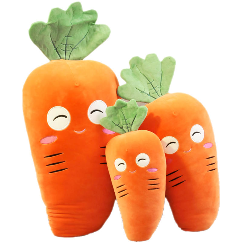Soft creative carrot pillow doll children plush toy radish doll doll birthday gift female
