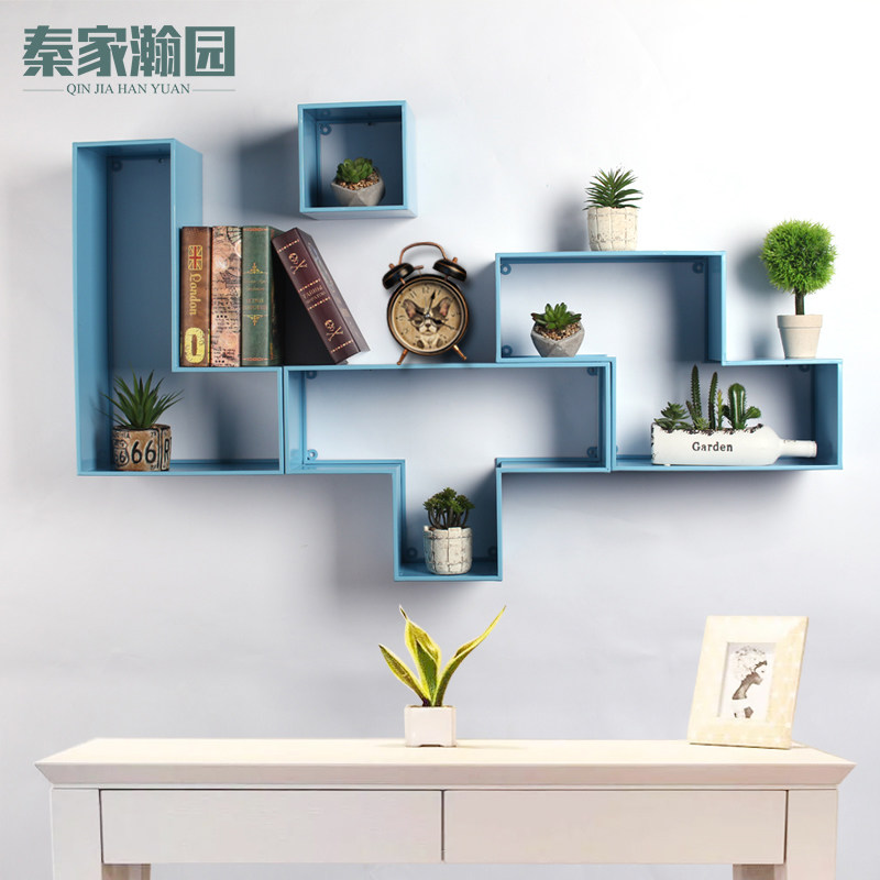 Creative Decorative Laminated Living Room Childrenu0027s Room Wall Wall Shelves  Russian Squares Lattice Wall Mounting Shelves