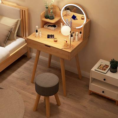 Nordic comb makeup cabinet one bedroom small apartment minimalist modern makeup table INS wind net red mirror makeup table