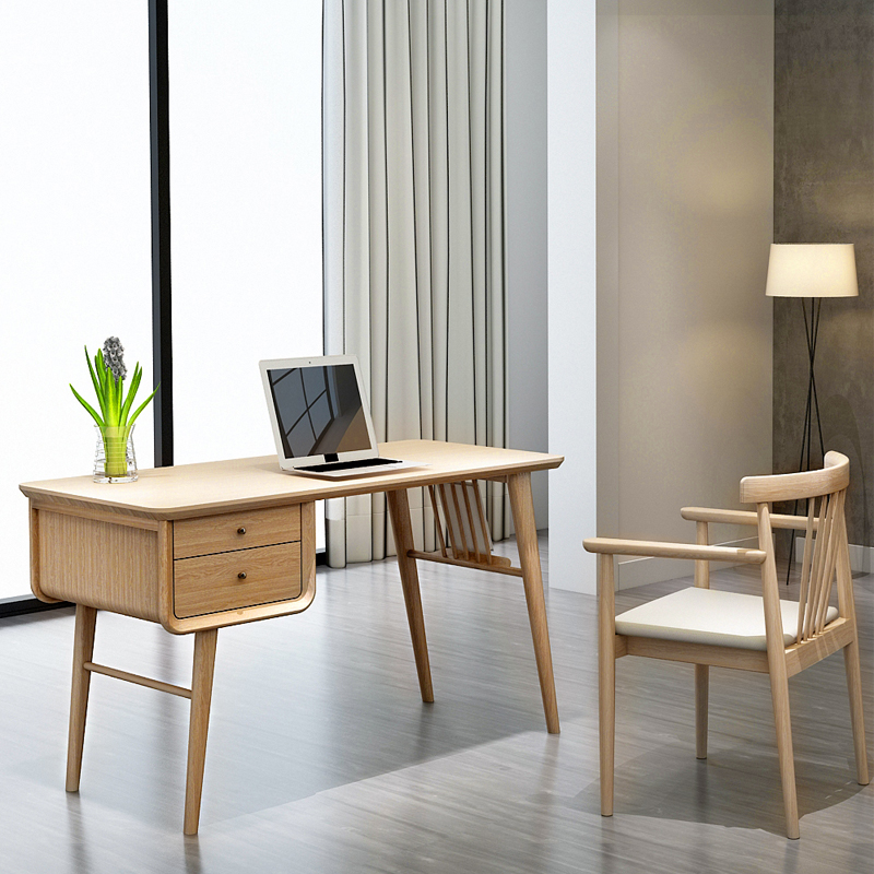 Separate desk wood color