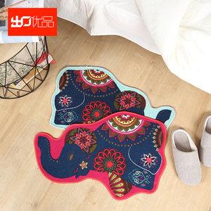 【出口优品】可爱卡通不规则小象造型卧室床边垫居家垫