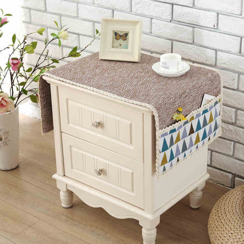 Cotton Minimalist Bedside TV Cloth Cover Refrigerator Cover Towel Small  Tablecloth Bedside Cabinet Cover Refrigerator Cover Cloth, Washing Machine  Cover ...