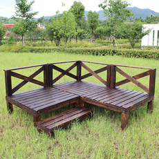 Outdoor anti-corrosion wood floor, balcony, terrace, self paving, outdoor courtyard, log board, solid wood, domestic platform, tatami